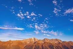 Ansicht der Berge Stockfotos