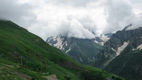 Ansicht der Berge in Dombay, Nord-Kaukasus Russland stockfoto