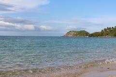Ansicht der Berge und des Ozeans in Isla Gigantes lizenzfreies stockfoto