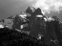 Ansicht der Bergspitze Stockbilder