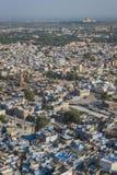Ansicht der blauen Stadt, Rajasthan, Indien Stockbilder