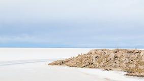 Ansicht der bolivianischen Salzebenen Stockfotos
