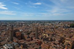 Ansicht der Bolognastadt, Italien lizenzfreie stockfotografie