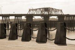Ansicht der Brücke in Beaufort, S.C. Stockbilder