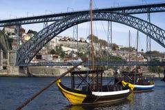 Ansicht der Brücke Dom-Luis I, Porto Lizenzfreie Stockbilder