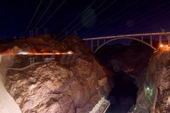 Ansicht der Brücke vor dem Hooverdamm lizenzfreie stockfotografie
