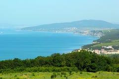 Ansicht der Bucht in Form eines Hufeisens Lizenzfreies Stockbild