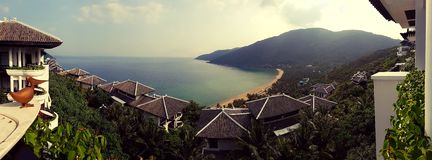 Ansicht der Bucht in Vietnam lizenzfreies stockbild