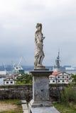 Ansicht der Bucht von Ferrol vom San Francisco-Park Lizenzfreie Stockbilder