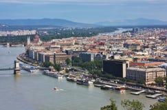 Ansicht der Budapest-Stadt stockbild