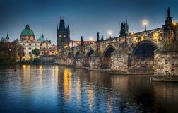 Ansicht der Charles-Brücke prag Tschechische Republik Stockfotos