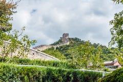 Ansicht der Chinesischen Mauer von China stockfotografie