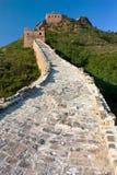 Ansicht der Chinesischer Mauer Stockbild