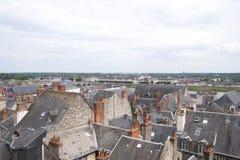 Ansicht der Dächer der Stadt von Blois (Frankreich) Stockfoto