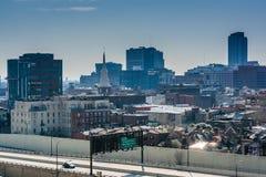 Ansicht der Delaware-Schnellstraße von Ben Franklin Bridge Wal Stockfotografie