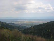Ansicht der Ebene von Elsass Stockbilder