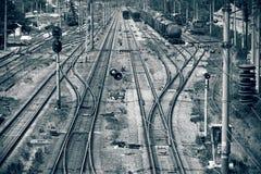 Ansicht der Eisenbahn Lizenzfreie Stockfotografie