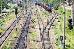 Ansicht der Eisenbahn Stockfotografie