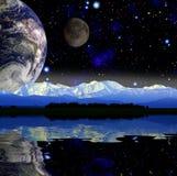 Ansicht der Erde Stockfotos