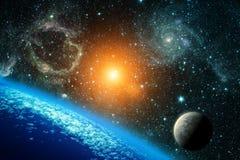 Ansicht der Erde vom Raum Stockbild