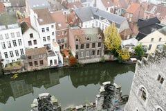 Ansicht der europäischen Stadt Stockbilder