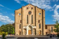 Ansicht an der Fassade der Basilika San Francesco im Bologna - Italien lizenzfreies stockbild