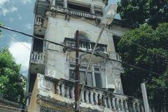 Ansicht der Fassade des alten Hauses, Rio de Janeiro lizenzfreie stockfotografie