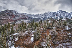 Ansicht der felsigen Berge von Ourey, Kolorado stockfotografie