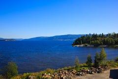 Ansicht der Fjorde Stockfoto