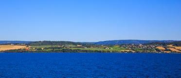 Ansicht der Fjorde Lizenzfreies Stockfoto