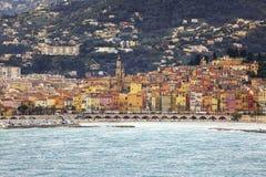 Ansicht der französischen Küste lizenzfreies stockbild