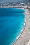 Ansicht der französischer Riviera-Küstenlinie Stockbild