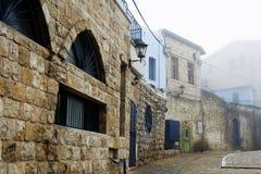 Ansicht der Gasse in altem Safed stockfotos