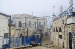 Ansicht der Gasse in altem Safed stockbilder