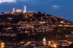 Hügel Quitos Ecuador Stockbild