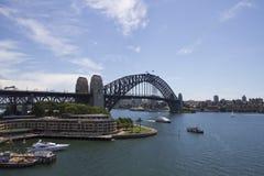 Ansicht an der Hafen-Brücke in Sidney Stockbild