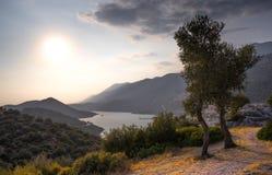 Ansicht der Halbinsel und des neuen Jachthafens von Kas, die Türkei Stockfotos