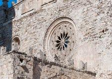 Ansicht der Hauptkathedrale von Erice, Provinz von Trapani Sizilien, Italien Stockfotografie