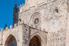 Ansicht der Hauptkathedrale von Erice, Provinz von Trapani Sizilien, Italien Stockbild