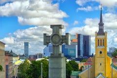 Ansicht der Hauptstadt von Estland-Stadt von Tallinn Stockfotos