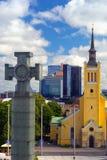 Ansicht der Hauptstadt von Estland-Stadt von Tallinn Lizenzfreies Stockbild