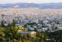 Ansicht der Hauptstadt von Griechenland Stockfotografie