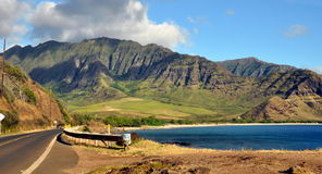 Ansicht der hawaiischen Küstenlinie Stockfotos