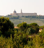 Ansicht der heiligen Stadt von Loreto Stockbilder
