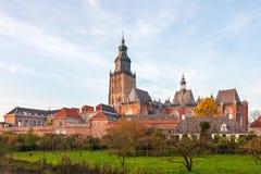 Ansicht an der historischen holländischen Stadt Zutphen Lizenzfreie Stockfotos