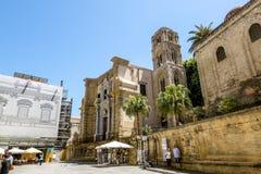 Ansicht der historischen Mitte und Chiesa di San Cataldo in Palerm Stockbilder