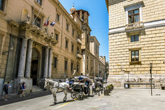 Ansicht der historischen Mitte und der Straßen in Palermo sizilien Stockbild