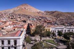 Ansicht der historischen Mitte von Potosi, Bolivien lizenzfreies stockfoto