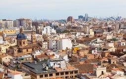 Ansicht der historischen Mitte von Valencia Lizenzfreie Stockfotos