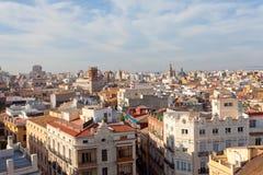 Ansicht der historischen Mitte von Valencia Stockfotos